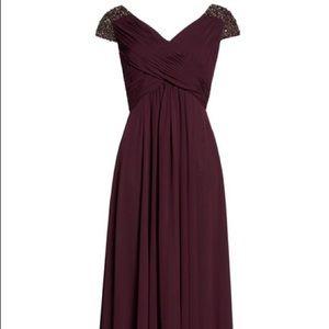 NWT Eliza J Chiffon Embellished Dress